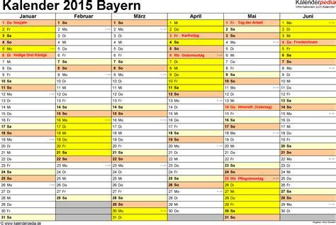 Kalender 2018 Bayern Halbjahr Kalender 2015 Bayern Ferien Feiertage Pdf Vorlagen