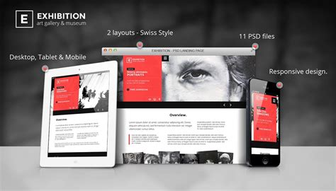 Exhibition Art Gallery Museum Psd Landing Page By Themderbolt Themeforest Exhibition Template