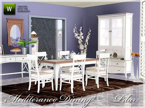 Dining Room Sets Sims 3 Pilar S Mediterraneo Dining