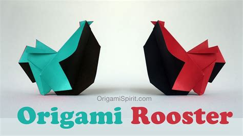 Origami Rooster - how to make an origami rooster