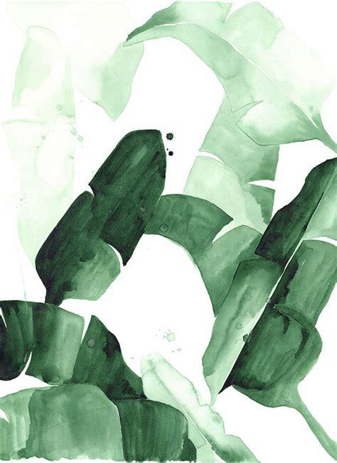 Poster Set Of 2 Tropical Leaves Cactus 2xa4 banana leaf print the aestate