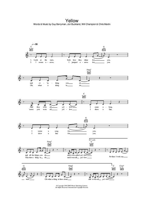 coldplay chords yellow piano yellow piano chords yellow piano chords yellow