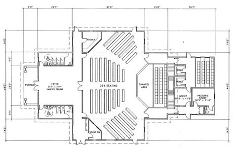 church floor plans church plan 143 lth steel structures