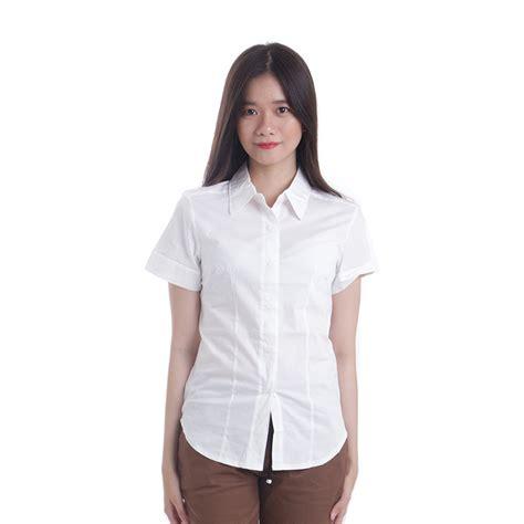 Kemeja Putih Wanita Kantor Polos adore kemeja putih kemeja kemeja wanita hem white
