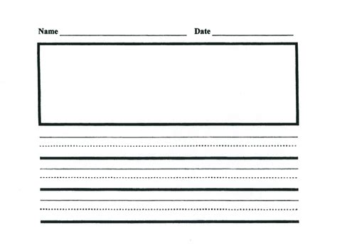 kindergarten writing paper template ms m s writing paper