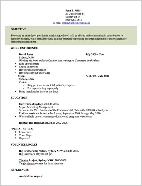 Resume Template For Australia by Free Printable Resume Template Australia Resume Resume Exles Erlyokxzlk