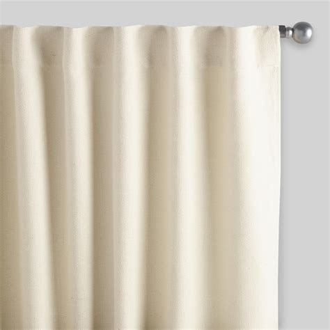curtains in ivory herringbone jute sleevetop curtains set of 2