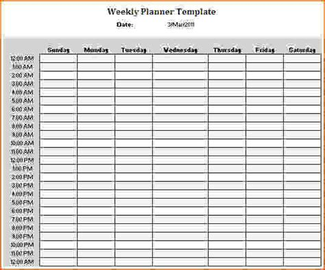 24 Hour Weekly Calendar Template 5 24 hour schedule template bookletemplate org