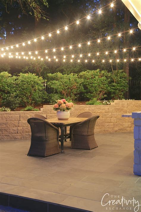 hanging lights outdoor tips for hanging outdoor string lights