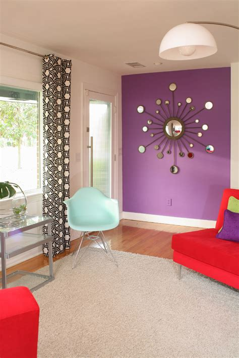 Purple Wall With Striped Pillow Kids Contemporary And | purple wall with striped pillow kids contemporary and