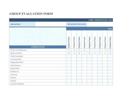 simple employee evaluation form basic performance