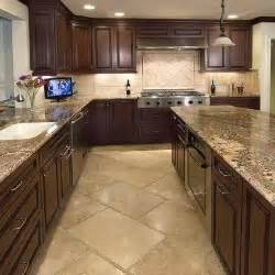 Dark Kitchen Cabinets With Light Granite Countertops by Dark Kitchen Cabinets Light Floor Granite Counter Top
