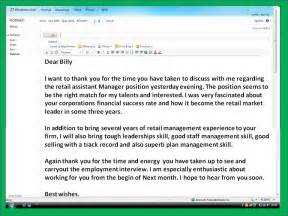 Thank You Letter After Internal Interview Email Sample how to get a job email thank you note after interview sample