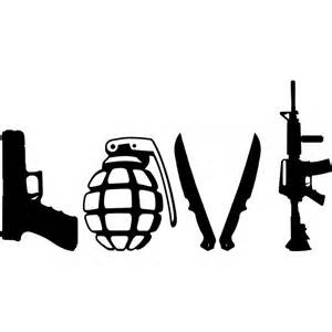 love tattoo gun grenade tactical front liner love gun decal
