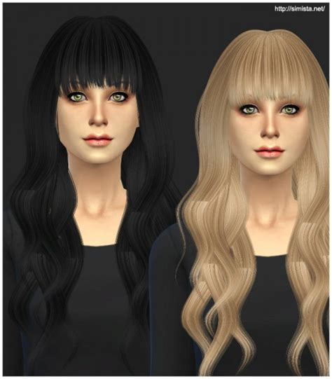 sims 4 custom content hairstyles sims 4 hairs simista ela sims hairstyle 20 retextured