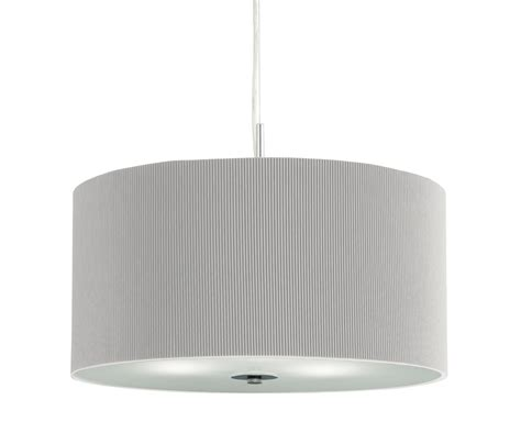 Pendant Light Diffuser Drum Pleated Large Pendant 3 Light Silver Grey With Glass Diffuser