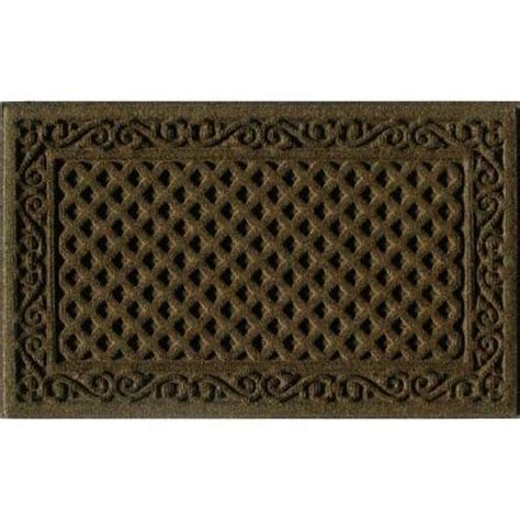 Brown Rubber Door Mat Apache Mills Iron Lattice Brown 18 In X 30 In Synthetic