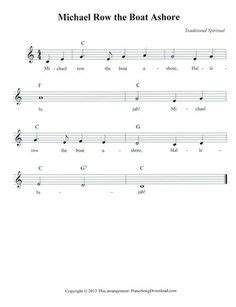 michael row the boat ashore noten klavier hey diddle diddle by mother goose free sheet music for