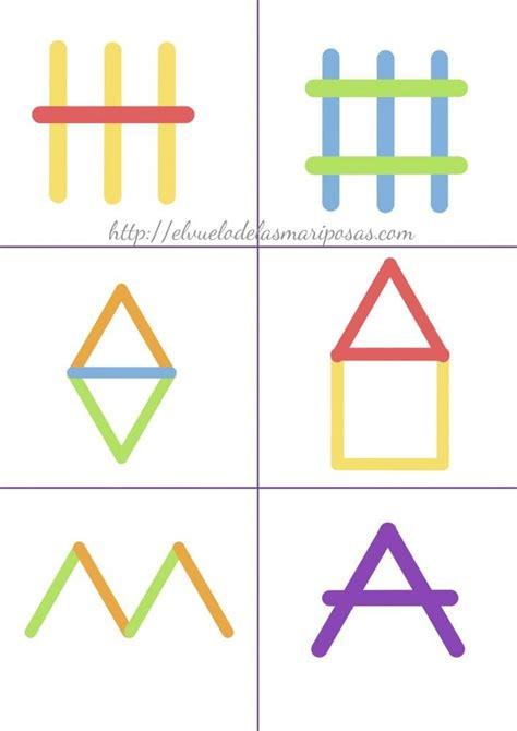 figuras geometricas montessori figuras palitos 2 rac 243 mates pinterest actividades