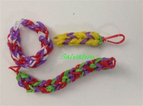 youtube tutorial loom bands rainbow loom monster tail salvation bracelet designed and