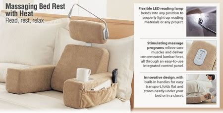 massaging bed rest pillow with heat relieve tensions with the brookstone massaging bedrest pillow hometone home automation and