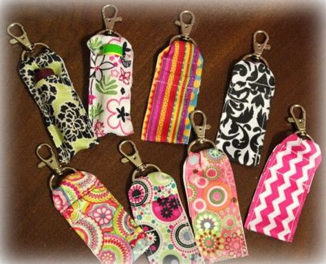 pattern for chapstick holder ribbon clip on chapstick holders sewing pinterest