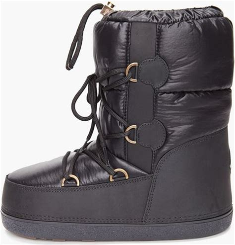 mens moon boots moncler moon boots in black for lyst