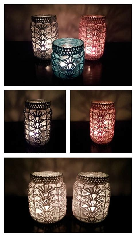 Flaschen Deko Selber Machen 3757 light jar cover free crochet pattern h 228 keln