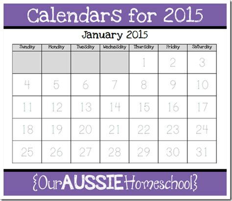 calendar notebook calendars for 2015 our aussie homeschool