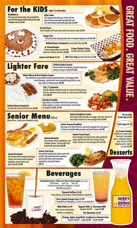 Zoës Kitchen Menu by Jackie S Kitchen Breakfast Lunch Dinner