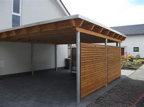 carport flachdach flachdach carport in g 252 tersloh pollmeier holzbau gmbh