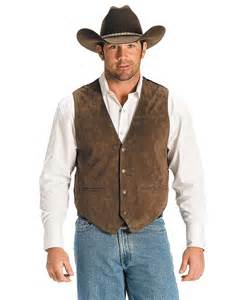 Barrel Racing Home Decor scully men s chocolate boar suede leather vest