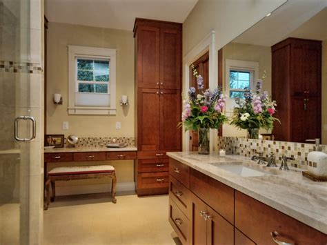 how to a to toilet in one area master bath one sink plus make up area craftsman bathroom by kr