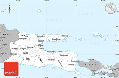 java layout east west gray simple map of east java