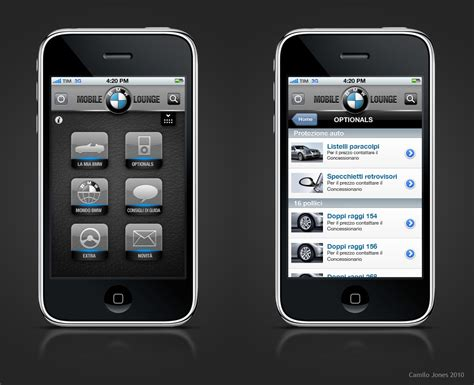 iphone phone layout bmw iphone app italy layout by camilojones on deviantart