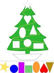 christmas tree craft learn shapes color template