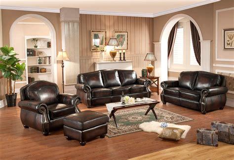 4 ottoman set hyde antique burgundy top grain leather 4pc sofa set