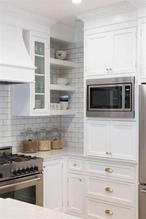 stainless steel microwave  mounted  white