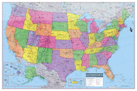 printable poster size usa map united states map usa poster 36x24 print size