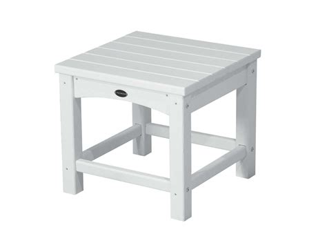 Plastic Side Table Polywood 174 Traditional Recycled Plastic 18 Square End Table Clt1818
