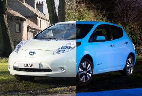 glow in the paint nissan nissan leaf gets glow in the paint daily