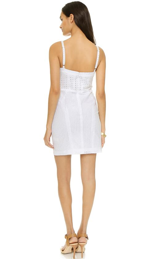 dress laudia lyst minkoff dress white in white