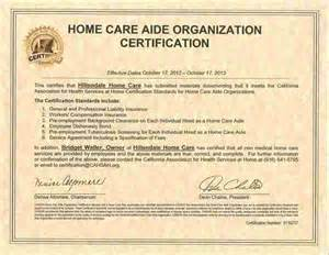 home health aide certification home care company in walnut creek california