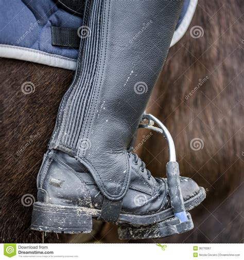 dirty riding boots close up of a dirty riding boot royalty free stock