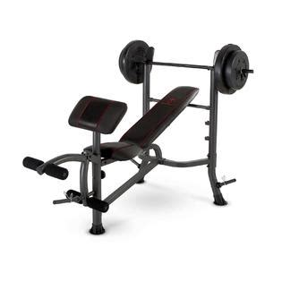 marcy club bench marcy fitness standard weight bench with 80 lb weight set