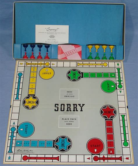 sorry board card template brothers sorry slide pursuit vintagetoys