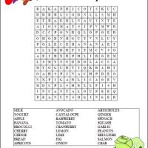 printable word search healthy eating healthy food word search
