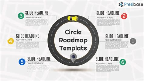 Circle Roadmap Prezi Template Prezibase College Roadmap Template