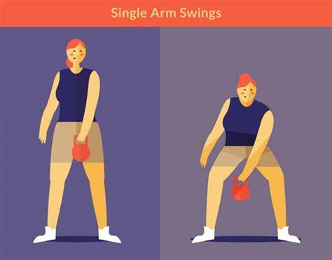 one arm swing 7 kettlebell moves for a killer core kettlebell exercises