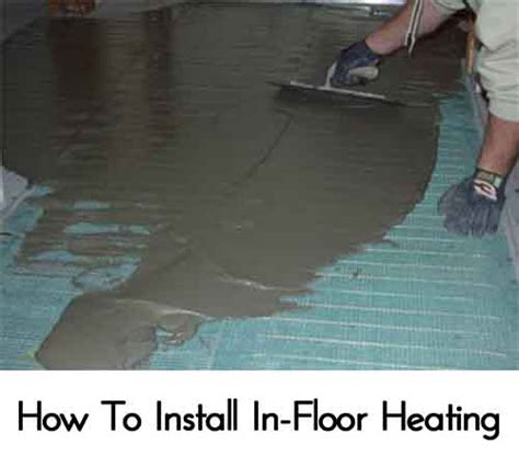 How To Wire A Floor L by How To Install In Floor Heating Lil Moo Creations